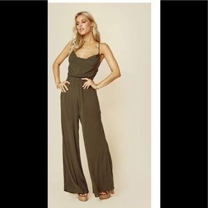 Blue life Theia cowl neck jumpsuit in black.